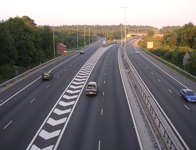 M27 eastbound, Chilworth