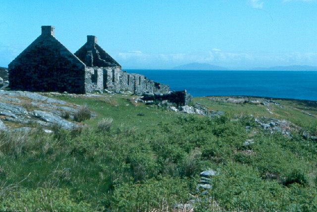 Riasg Buidhe ruins