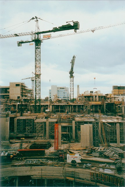 Construction of the WestQuay shopping centre