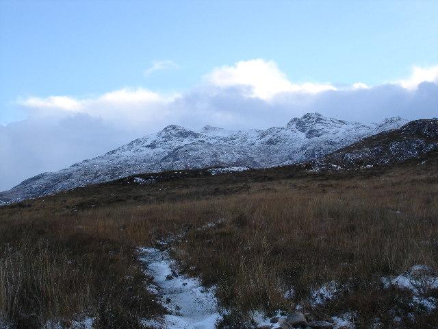View towards Beinn Airigh Charr