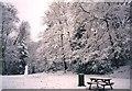 SU4216 : Snow scene, Glen Eyre university accommodation, Bassett by Jim Champion