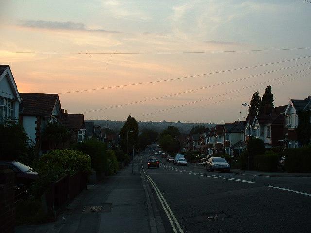 Sunset over Athelstan Road, Southampton