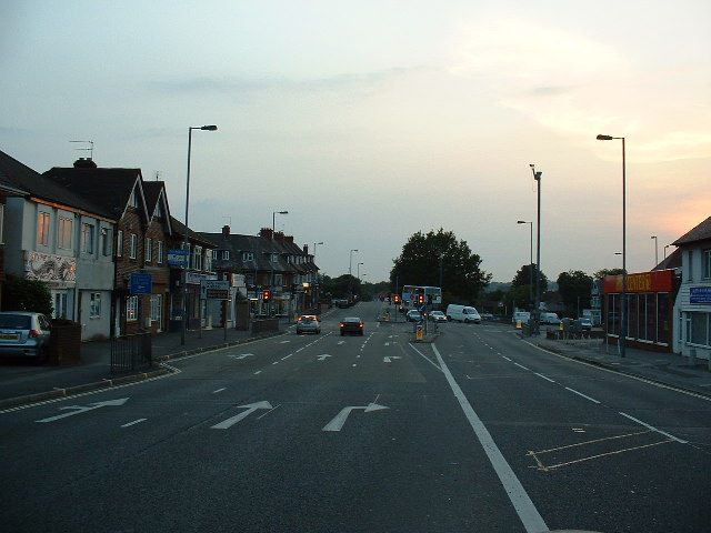 Bitterne Road West/Bullar Road junction, Southampton
