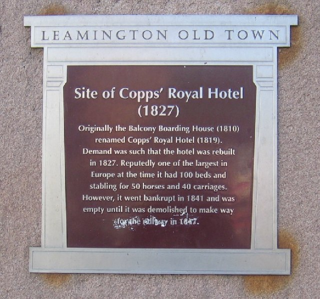 Plaque at High Street Bridges, Royal Leamington Spa