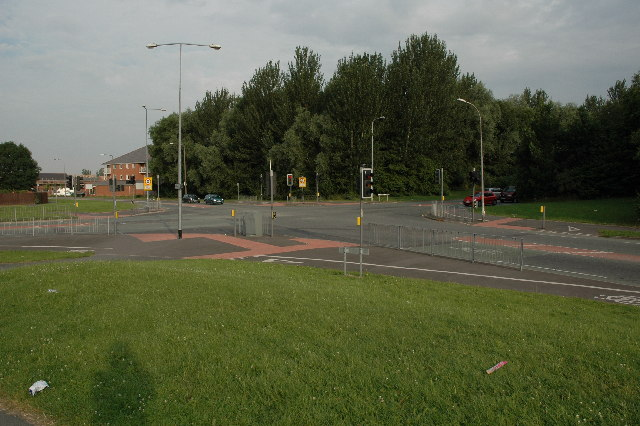 Crossroads along Blackbrook Avenue, Warrington