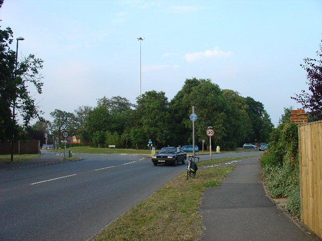 Roundabout on B2195, Horsham, West Sussex