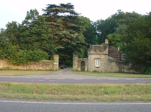 Gate house to the Holmbush estate, off A264, between Crawley and Horsham