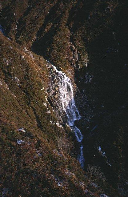 Waterfall on Aonach Buidhe