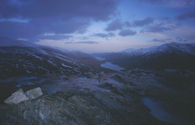 Winter dusk on Carn na Breabeag