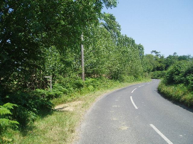 Birchgrove Road and footpath to Birchgrove Wood