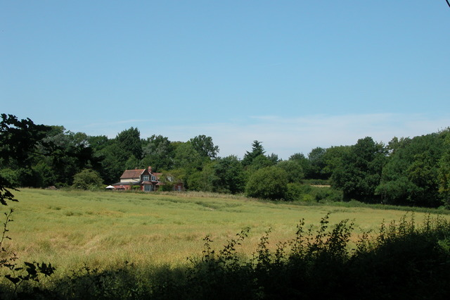 Privett station and farmland.
