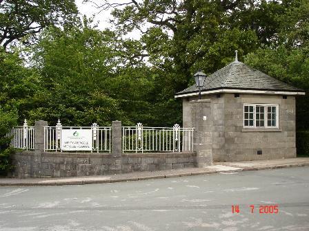 Gatehouse entrance to Abergele hospital