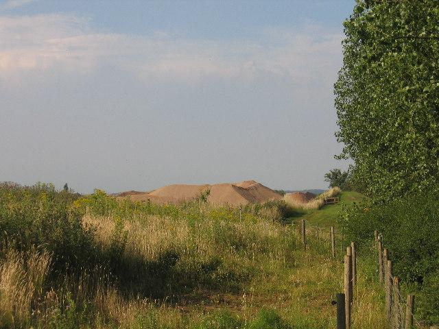 Warwickshire sand dunes.