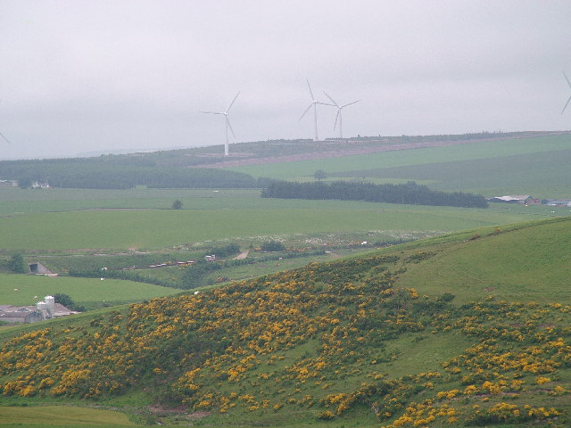 Looking East over Stodfold to Windmills