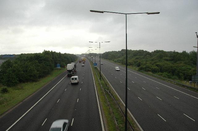 M62, after Junction 10