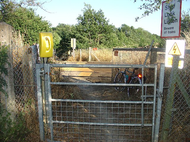 Bridleway crossing the Crawley - Horsham Railway line, Ifield West, Crawley, West Sussex