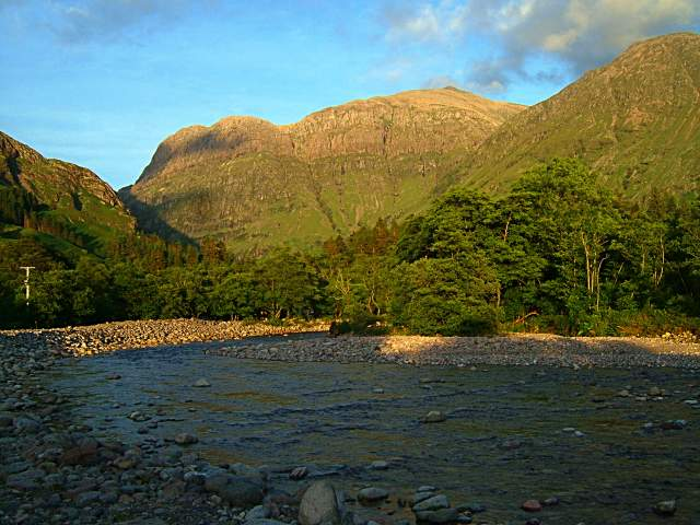 River Coe by Red Squirrel camp-site