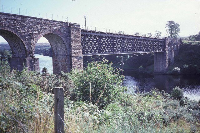 Railway bridge over the Kyle of Sutherland, between Culrain and Invershin stations