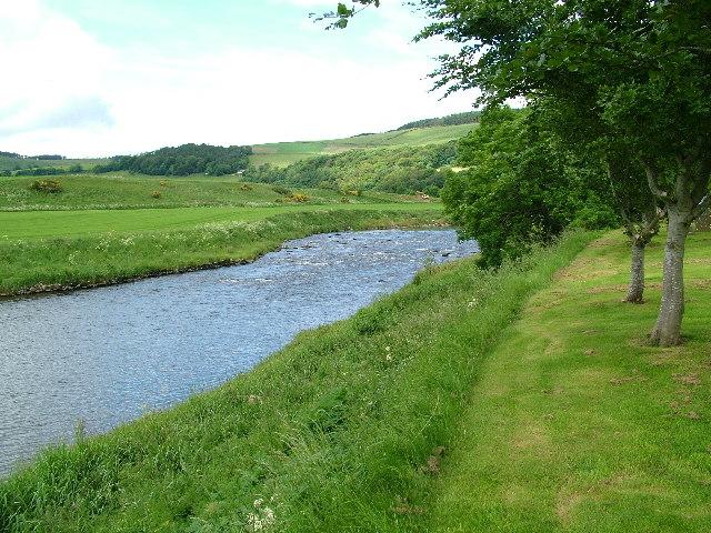 River Deveron from Marnoch Cemetery