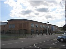 SP3677 : The Alan Higgs sports centre by David Stowell