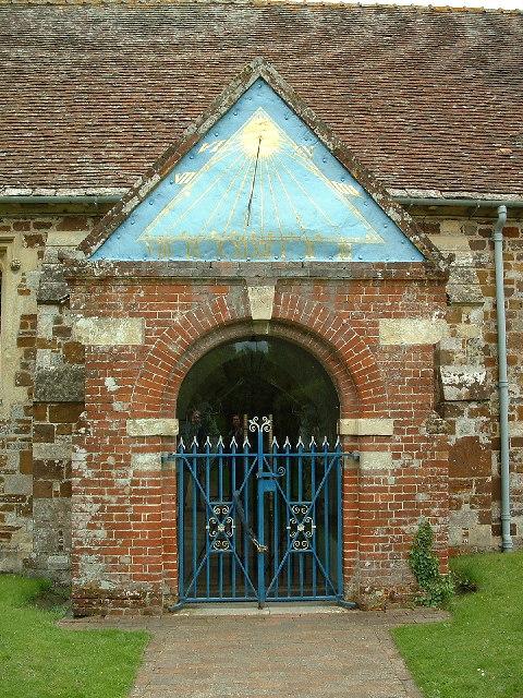Entrance to Saint Mary's Church, Ellingham