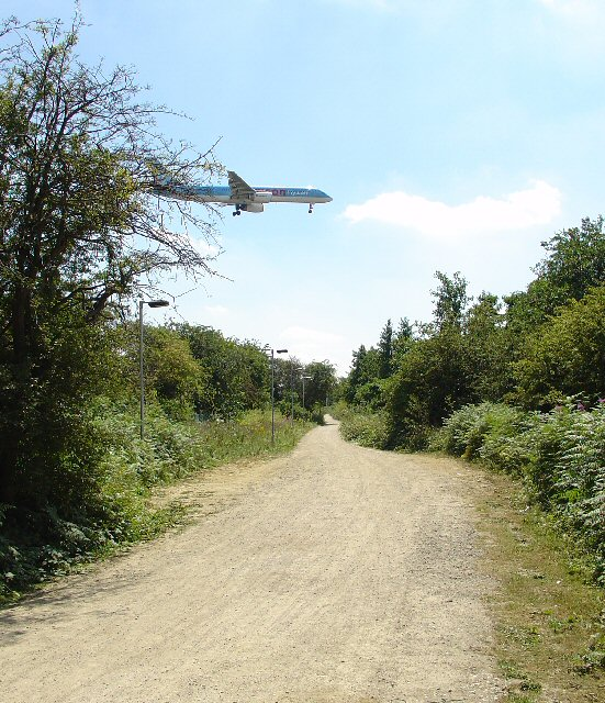 Cycle Route past Gatwick Airport, Near Crawley, West Sussex