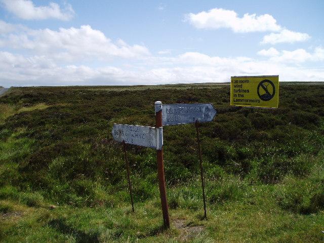 Lammermuir hills escarpment
