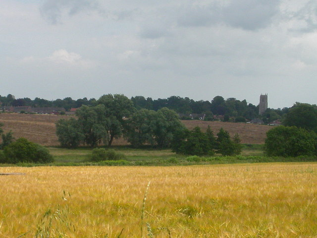 View across Run Dyke to Blofield