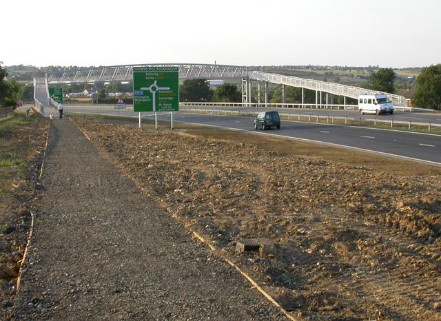 Footbridge over the A6