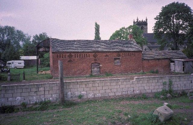 Brick-built barn at Church Farm, Colwich