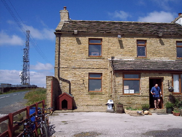 Cold Edge transmitter and Withens public house