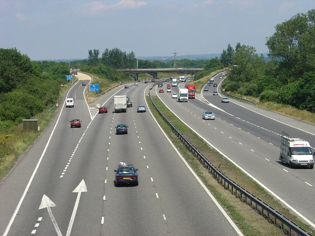 M23 Junction 9 - Gatwick Airport Spur Road, West Sussex