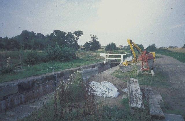 Aston top lock, during restoration work