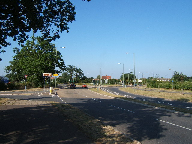 B284 near roundabout at junction with B2200, West Ewell