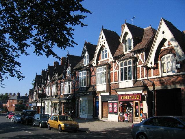 Dorridge - shops in station approach