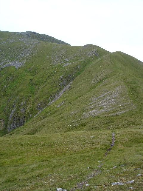 South Ridge up to Sgurr a Bhealaich Dheirg
