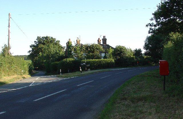 Manns Farm Road Junction, near Rusper, West Sussex