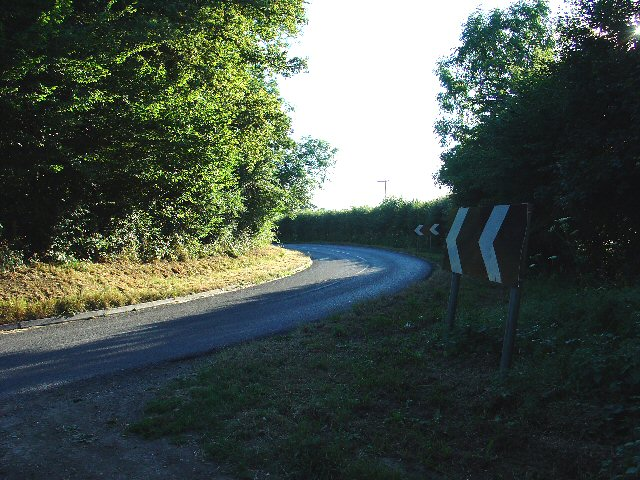 Waffles Corner on the road between Rusper (West Sussex) and Capel (Surrey).