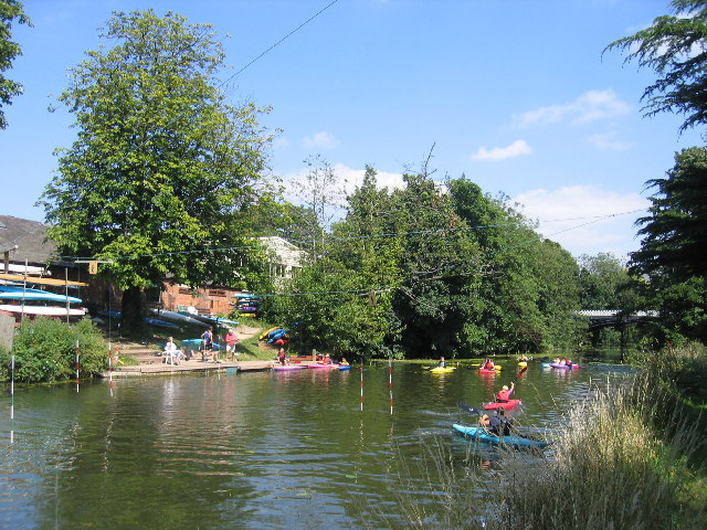 Canoers on the River Leam