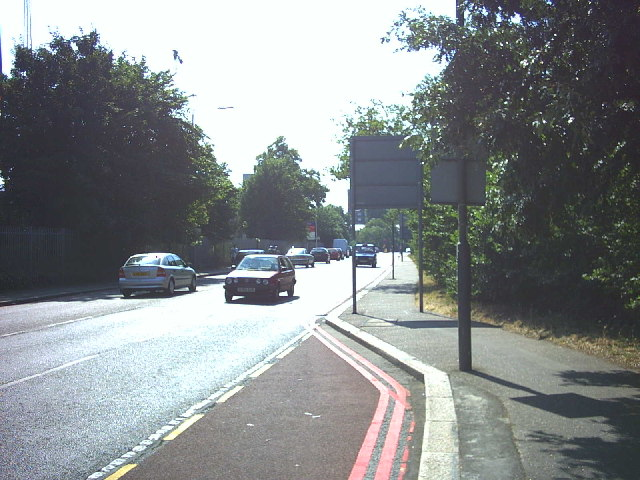 South Circular Road (A205) by Barnes Common.