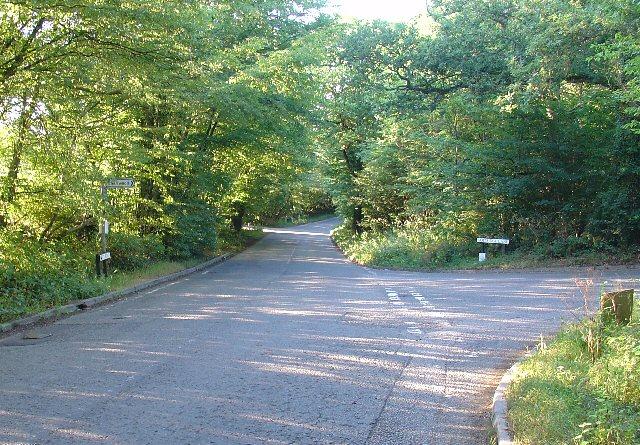 Junction of Partridge Lane and Rusper Road, Near Rusper, West Sussex.