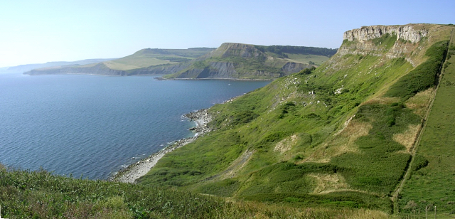 View north from the cliffs of St Aldhelm's Head, Isle of Purbeck
