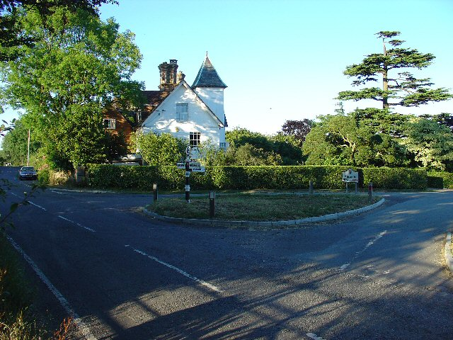 Road Junction at Orltons, Near Rusper, West Sussex