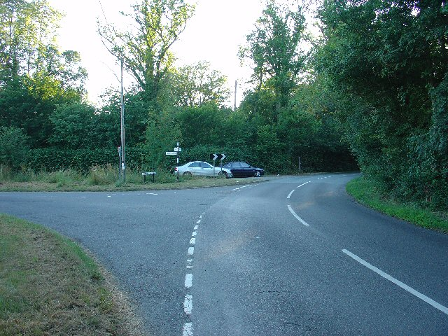 Junction of Rusper Road, East Street, and Lambs Green, near Lambs Green, Rusper, west Sussex.