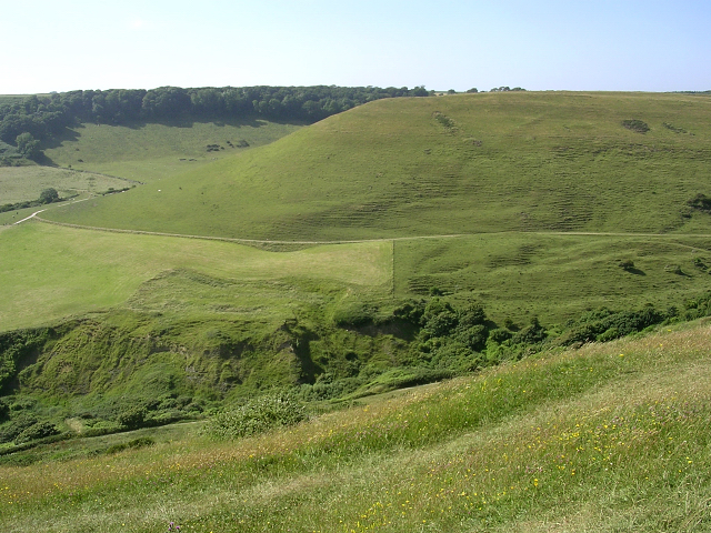 View of Kingston Down promontory from West Hill, Isle of Purbeck