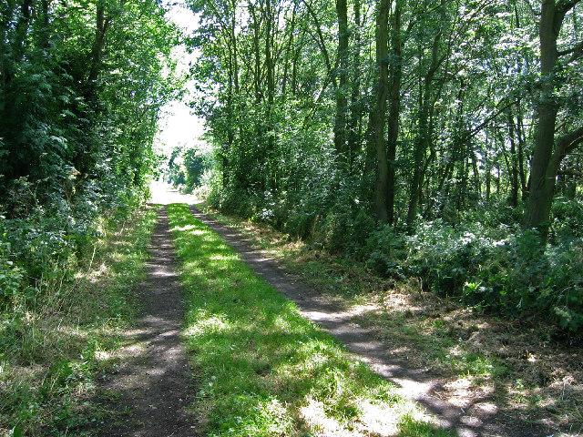 Line of old mineral railway, near Woolsthorpe