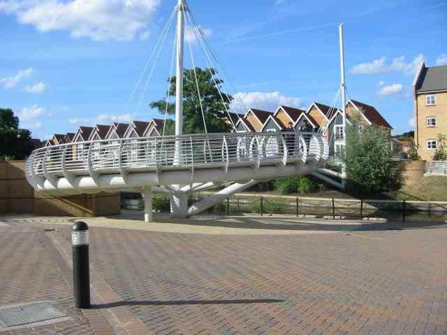 Pedestrian footbridge  at Apsley