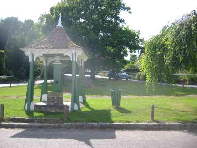 Village pump and green at Latimer