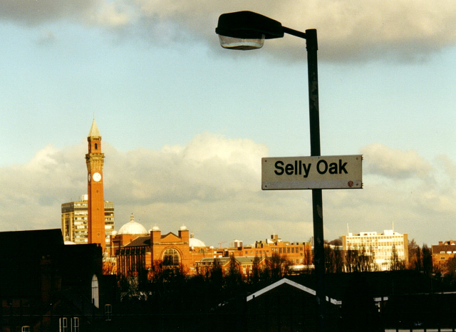 View from Selly Oak railway station, Birmingham