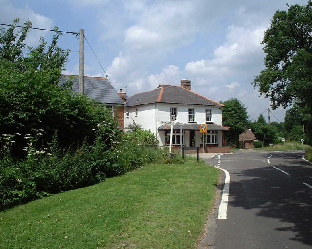Junction of Well Street and Harts Lane, Burghclere